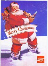 Coca Cola Merry Christmas, ca. 1980, Weihnachts-Bastelbogen, 4 Karton-Seiten A4