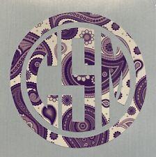 Purple Paisley Circle Monogram Vinyl Decal Sticker for Yeti Tumbler iPhone