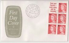 Stamps 1967 Australia 5c on 4c QE2 booklet pane official emblem FDC, scarce