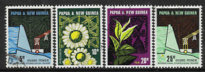PAPUA NEW GUINEA 1967 HYDRO ELECTRICITY SCHEME 4v FINE USED