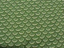 Timeless Treasures Ruby C9513 Green Lace 100% cotton Fabric by the yard