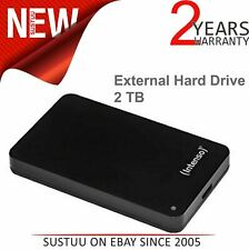 "Intenso 6021580 2TB Memory Case 2.5"" USB 3.0 External Hard Disk¦Drive¦Black¦NEW"