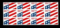 US, Sc #2475a, MNH,1990, Flag USA, pane of 12, EB-B
