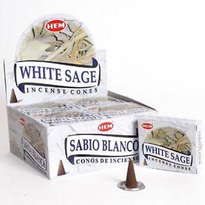 White Sage Hem (SAC) Incense Cones Bulk- U Pick 10-20-30-50-70-100-120 Wholesale