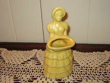 New listing Vintage Decorative Shawnee Girl with Basket Planter (Yellow) (Unmarked)