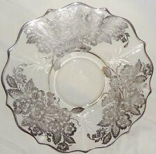 "Mid-Century Large Fostoria Baroque heavy silver overlay 10 1/2"" Cracker Tray"