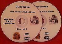Gunsmoke 480 Western OTR Shows Old Time Radio Audio Books Matt Dillon 2 MP3 DVDs