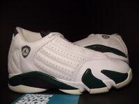 Kids Nike Air Jordan XIV 14 Retro WHITE FOREST GREEN GREY BLACK SILVER 1.5Y 1.5