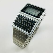 Casio #DBC610A-1A Men's Vintage Stainless Steel Band 50 Telememo Calculator