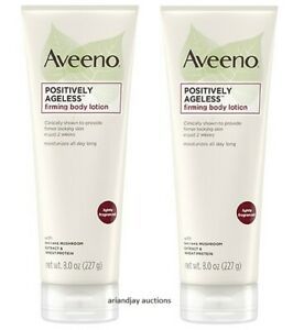 Lot of 2 New Aveeno Positively Ageless Firming Body Lotion 8.0 oz each