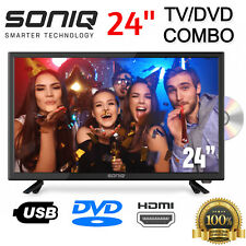 """SONIQ TV/DVD Combo 24 Inch LED LCD 24"""" Television Built-In DVD Player NEW"""