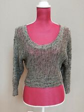 Silver Gray Guess Marciano Top Sweater Sexy Size XS Excellent Condition
