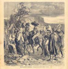 Zigeunerbegräbniß in Siebenbürgen-Sinti-Roma-Musik-Zigeuner - Holzstich um 1870