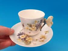 Hand Painted Limoges Dragonfly Handle Cup & Saucer Like Butterfly Handle #2