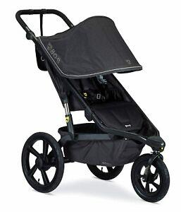 BOB Alterrain Jogging Stroller Swivel Front Wheel Baby Jogger Melange Black