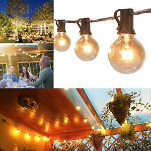 30FT Garden Patio Globe Festoon String Lights 30 G40 Bulb Indoor/Outdoor Garden