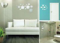Spiegelsticker Set Dekoration Selbstklebend Wanddeko Dekospiegel Aufkleber