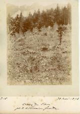 Suisse, Creux de Van, près de la Fontaine Froide  Vintage albumen print. Vintage