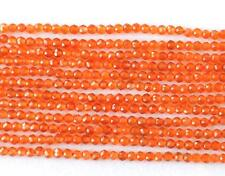 """12.5"""" STRAND CARNELIAN BEADS FINE MICRO CUT FACETED ROUND 2 MM NATURAL @683"""