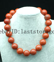 """red stone round 20mm  necklace 17.5"""" nature wholesale beads bigger"""