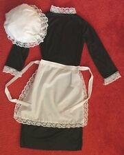 Gli Adulti Stile Vittoriano Costume Cameriera gonna grembiule e cappello mop Taglia 10//16 FREE POST