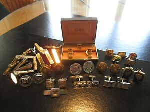 VINTAGE CUFFLINK * TIE CLIPS, TACKS * SETS * PAIRS * SINGLES * SOME SIGNED    #9