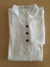 camisa CUELLO MAO BLANCO 100 % ALGODÓN manga larga Hombre camisa angkor Camboya