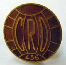 FOOTBALL CRD 436 insigne authentique émail boutonnière 16mm vintage collector