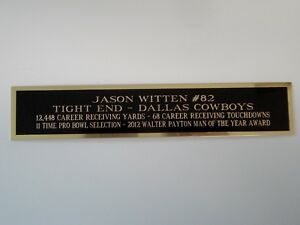 Jason Witten Football Card Plaque Or Display Case Nameplate 1.5 X 6