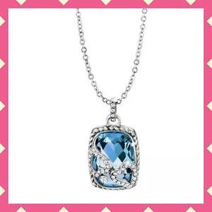 NEW Brighton True Color Tender Hearts Necklace Blue Swarovski Crystal Silver