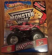 Hot Wheels Monster Jam 2012 Pink Madusa with Topps Card 30th