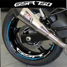 LISERETS JANTES GSR 750 STICKERS MOTO kit pour 2 jantes 40 couleurs