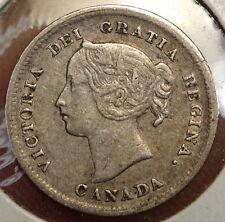 Canada Five Cents 1899 Small 9's, Sharp Fine+  0209-06