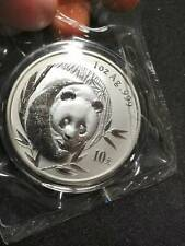 2003 Chinese Panda 1 oz Silver Coin Double Sealed Mirrored Bamboo