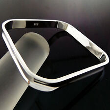 BANGLE BRACELET CUFF REAL 925 STERLING SILVER S/F SOLID LADIES DESIGN FS3A855