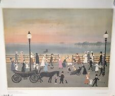HELEN BRADLEY Evening On The Promenade - Large Print Signed By Artist
