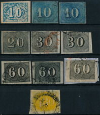 BRAZIL, CLASSIC UNCHECKED LOT OF 10 DIFFERENT USED STAMPS, SEE..  #A91
