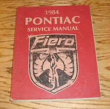 Original 1984 Pontiac Fiero Service Shop Manual 84