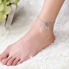 Fashion Dream Catcher Feather Ankle Chain Anklet Bracelet Foot Beach Jewelry UK