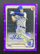 JOHN RAVE 2020 BOWMAN PURPLE PROSPECTS AUTO ROOKIE RC ROYALS SP /250