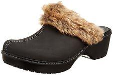 NEW Crocs Women's Cobbler Fuzz Clog Shoe Black/Black Sz: 6