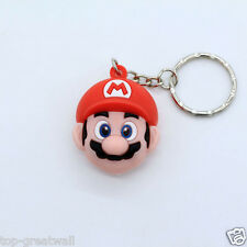 New Solid Super Mario Rubber Keyring Keychain Free shipping Red Color