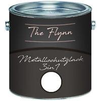 The Flynn Metallschutzlack 3-in-1 Weiß RAL 9010 2,5L 5L 10L TOP! Weiss