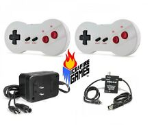 New NES Bundle: 2 Dogbone Controllers, AC Adapter & RF Switch AV Cable