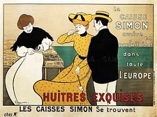 COMMERCIAL ADVERT CAISSE SIMON OYSTER FRANCE POSTER ART PRINT PICTURE BB1708A