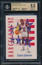 1991-92 Skybox #533 Earvin Magic Johnson USA Dream Team BGS 9.5