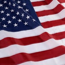 3'x5' Ft American Flag Usa Us Sewn Stripes Embroidered Stars Brass Grommets
