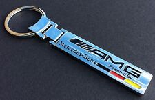 Luxury Mercedes Benz AMG Key Ring, Chrome Finish