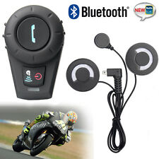 2x 500M BT Bluetooth Motorcycle Helmet  Intercom Stereo HiFi Soft Cable Headset