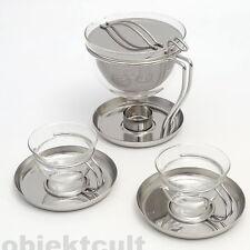 Mono Filio Set: 0,6l Teekanne✚2x Teetassen Tassen 44320 Edelstahl T. von GROLMAN